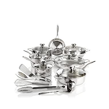 Wolfgang Puck Bistro Elite 18-piece  Favorites  Stainless Steel Cookware Set