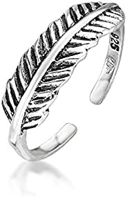 Amberta 925 Sterling Silver - Toe and Midi Ring for Women - Adjustable Fit - Various Styles