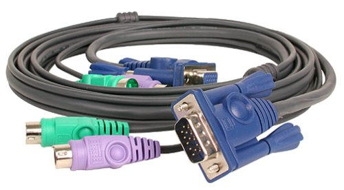 6ft PS2 KVM Combo Premium Cable with Micro Lite Technology IOGEAR INC. G2L5002P I/O Device Cables