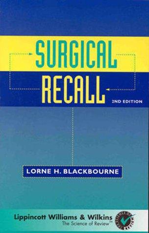 Surgical Recall by Brand: Lippincott Williams Wilkins