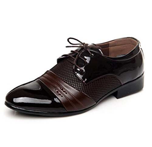 WZG zapatos casuales zapatos juveniles Las Estaciones hombres de la nueva señalada cuatro zapatos de cordones de zapatos Black