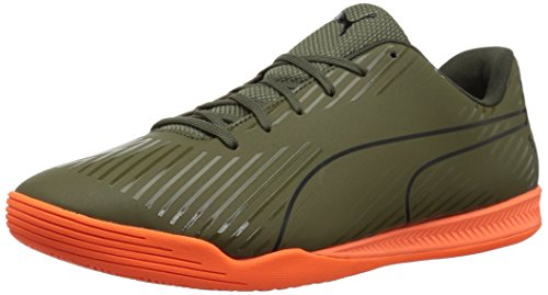 PUMA Men's Evospeed Star S2 Ignite Soccer Shoe, Olive Night Black-Shocking Orange, 8.5 M ()
