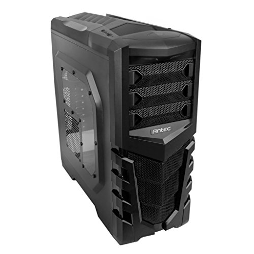 Antec GX505 Window Mid-Tower Gaming Case with 7 Drive Bays, SSD Support, Side Panel Window, 3 x 120mm Fans Pre-Installed for ATX, M-ATX and Mini-ITX