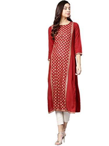 Indian Designer Kurta Kurti Ethnic Top Tunic Party Wear Women Dress Blouse (M)