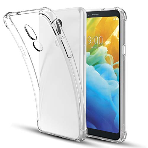 LG Stylo 5 Case,LG Stylo 5 Phone Case,Clear Soft TPU Four-Corner Silicone Anti-Scratch [Lightweight] Non-Slip Slim Shockproof Boys Girls Bumper Protective Phone Case Cover for LG Stylo 5,Clear