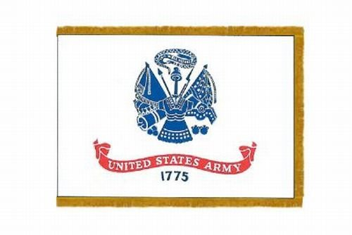 Us Army Fringed - U.S. Army Valley Forge Color Guard Parade Indoor Outdoor Nylon Flag Fringed 3' X 5'