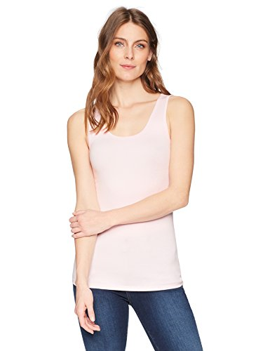 Amazon Essentials Women's 2-Pack Tank, Light Pink/Light Grey Heather, X-Large by Amazon Essentials (Image #2)