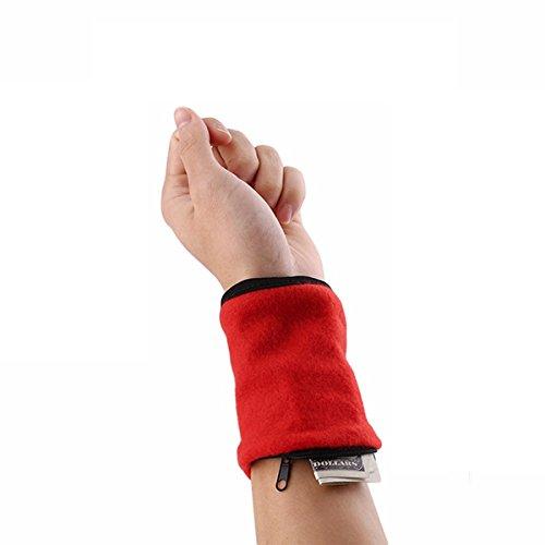 Storage Bags - Honana Hn-B9 3 Colors Zipper Wristband Organizer Pocket Card Coin Key Storage Bag Sport Wallet - Zipper Wristband Wrist Band Sweatband Pocket Pouch - Bands - 1PCs