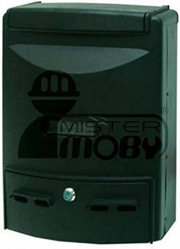 Mister Moby Cassetta Postale Grande Porta Riviste Alluminio Nero Nera