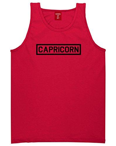 (Capricorn Horoscope Sign Mens Tank Top Shirt Medium Red)
