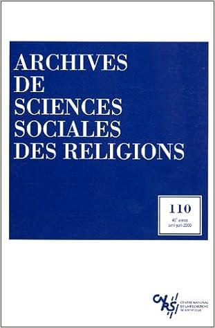 Téléchargement Archives de sciences sociales des religions, volume N° 110 pdf epub