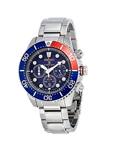Seiko Men's SSC019 Solar Diver Chronograph Watch ()