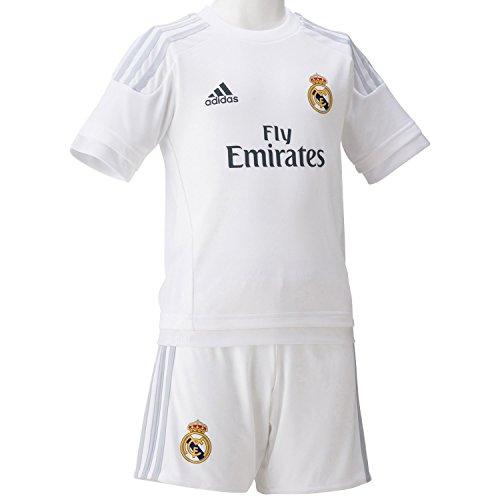adidas 2015/16 Real Madrid CF Home Mini Kit [White] - Soccer Uniforms Replica