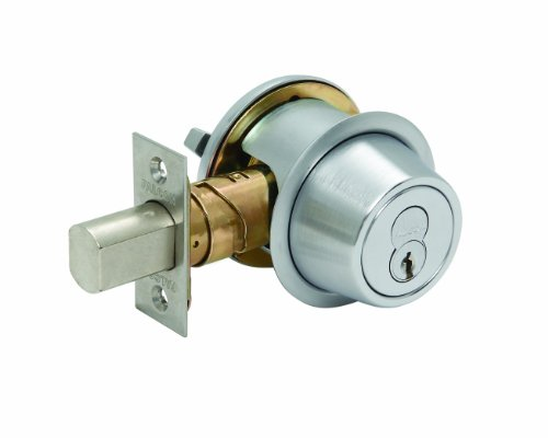 (Falcon D241BD 626 (SFIC) D200 Series Grade 2 Non-Handed Medium Duty Deadlock, Deadbolt Chasis, Single Cylinder, Small Format Interchangeable Core, Satin Chrome)