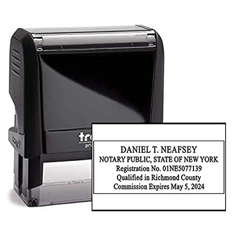 New York Rectangle Notary Stamp Ny Official Notary Stamp Enter Custom Text
