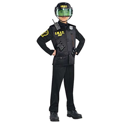 Children's SWAT Officer Costume Size Medium (8-10) - Swat Officer With Helmet Child Costume