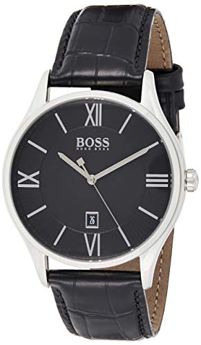 Hugo Boss Men's Quartz Watch with Leather Strap 1513485