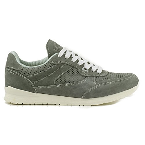 Buffalo Damen ES 30885 Sneakers Leder Nubuck Turnschuhe Trainer Perforiert Grau