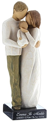 Willow Tree Hand-Painted Sculpted Figure, Our Gift … (Personalized)