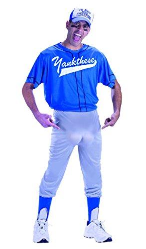 UHC Men's Baseball Nut T-shirt Funny Theme Fancy Dress Plus Size Costume, Plus (Mens Baseball Fancy Dress Costumes)