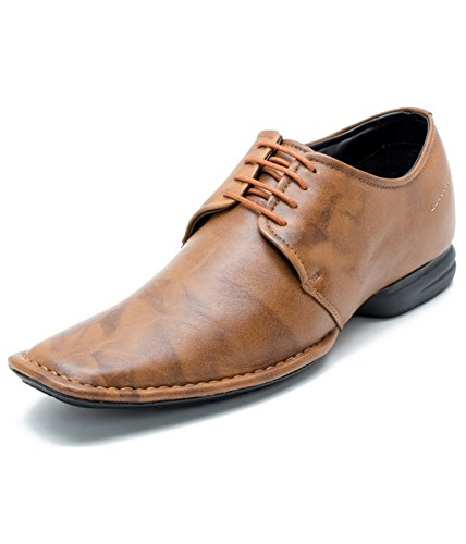 ec0e3b06aa0 Franco Leone Men s Tan Leather Formal Shoes - 9 UK India (43 EU)  Buy  Online at Low Prices in India - Amazon.in