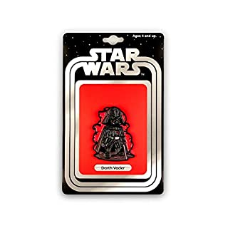 Star Wars Official Darth Vader Pin | Exclusive Art Design by Derek Laufman Series Collectors Pins Grey