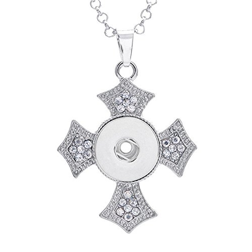 Charm Crystal Alloy Pendant Snap Chunk Button Fit for Noosa Necklace NSDZ13]()