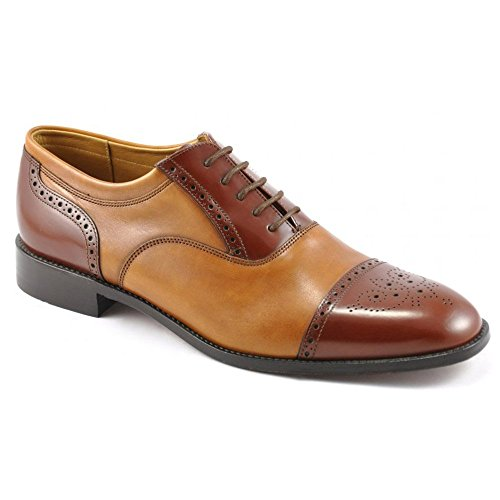 mens-loake-smart-leather-lace-up-shoes-woodstock-tan-size-95g