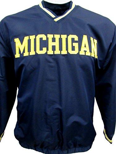 (G-III University of Michigan Wolverines Mens X-Large V-Neck Pullover Windbreaker Jacket AUMN 15 XL)
