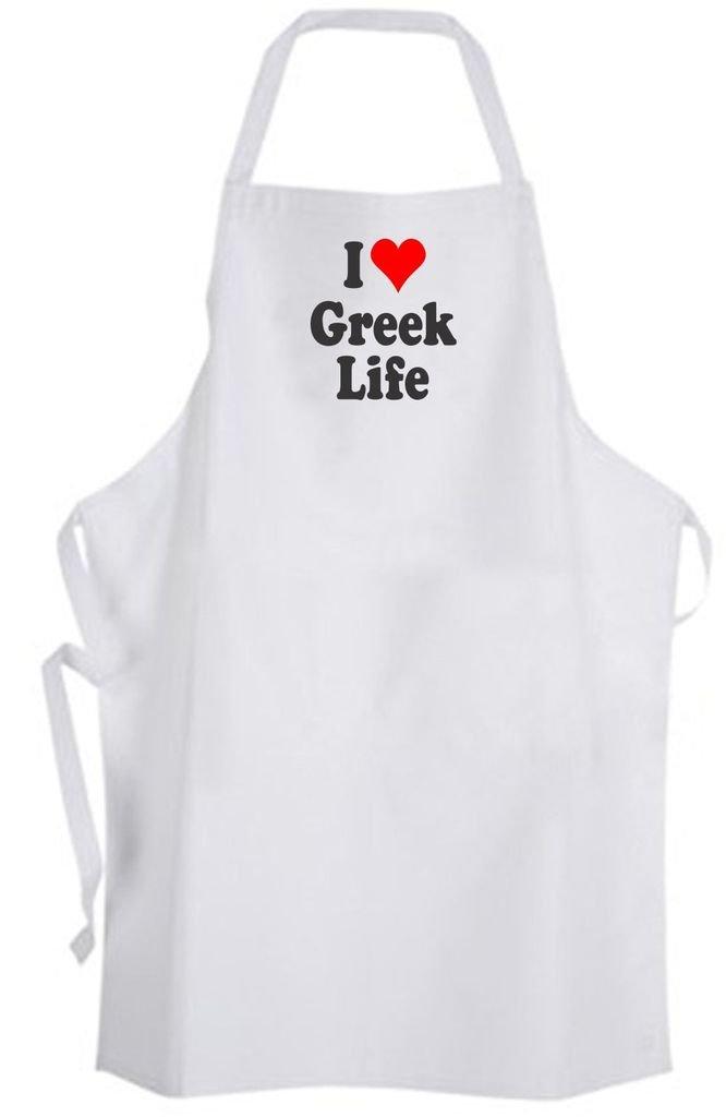 I Love Greek Life – Adult Size Apron - Sorority Fraternity College