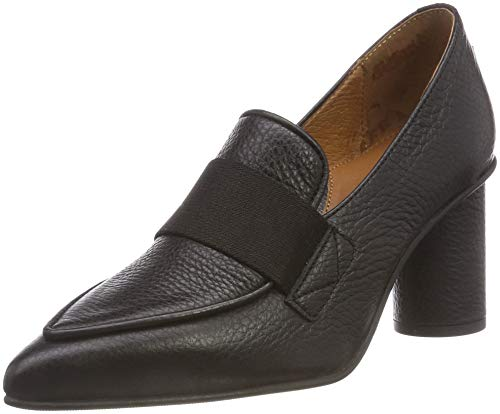 B Leather FEMME High Damen SELECTED Pumps Slfalex Loafer Heel HBw0aq