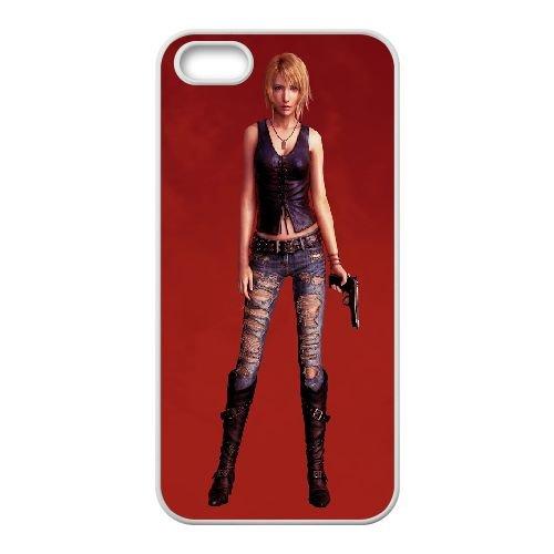 Aya Brea Parasite Eve 3 coque iPhone 5 5S Housse Blanc téléphone portable couverture de cas coque EBDOBCKCO11908