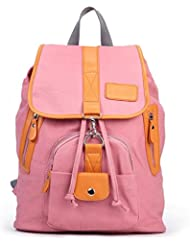 Eshow Women Girls Casual Canvas Daypack Cute Book Bag School Backpack