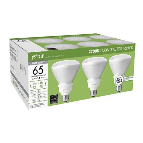 TCP 14-Watt Soft White Compact Fluorescent Flood Light Bulb (6 Pack) - 14 Watt R30 Floodlight