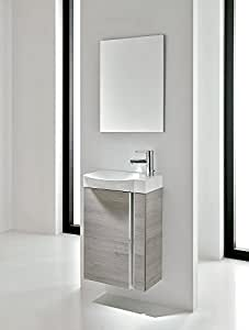 Small Bathroom Vanity Cabinet Sink And Mirror Wall Hung 18 Vanity Ceramic Sink