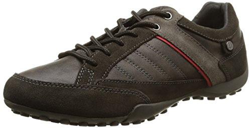Geox U Snake B - Zapatos de Cordones hombre marrón - Marron (C6372)
