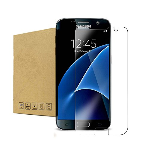 Galaxy S7 Screen Protector,[2 Pack] Linboll Glass Protector [Tempered Glass] 9H Hardness, Bubble Free [Case Friendly],glass screen protector for Samsung Galaxy S7