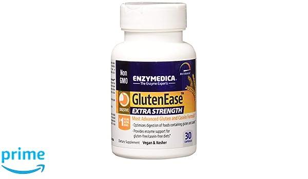 Enzymedica - GlutenEase Extra fuerza - 30 cápsulas (antes ...