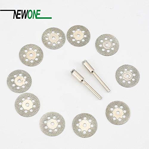 1 lot 10Pcs 22mm Rotary Tool Accessory Diamond Cut Off Wheel Disc Fits Proxxon Dremel Rotary Tools Craftsman