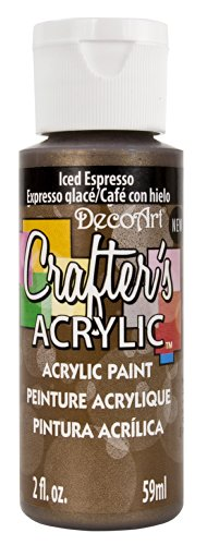 DecoArt Crafter's Acrylic Paint, 2-Ounce, Iced Espresso