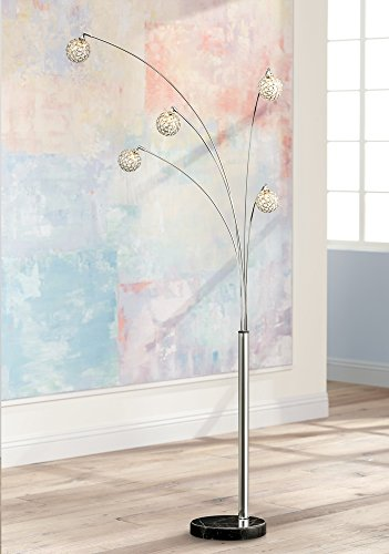 Possini Euro Design Allegra Crystal Ball Arc Floor Lamp Arc Lamp