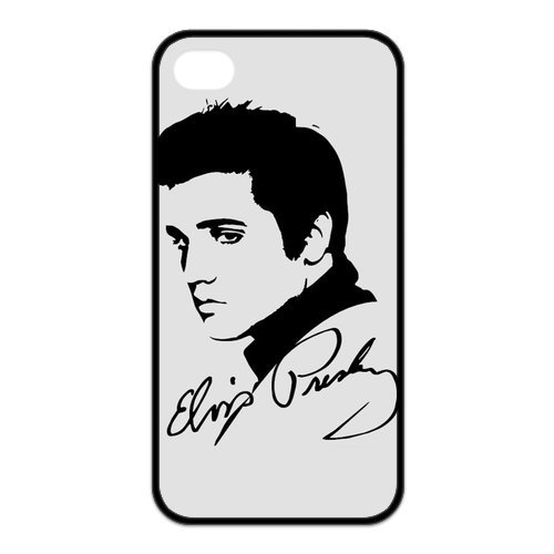 Fayruz- Elvis Presley Protective Hard TPU Rubber Cover Case for iPhone 4 / 4S Phone Cases A-i4K215