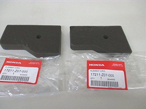 2 Pack Genuine Honda 17211-Z07-000 Air Cleaner Element Fits EB2000i EU2000i OEM