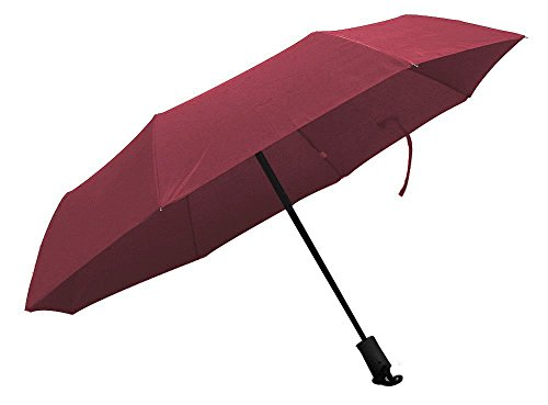 Century Star Windproof Sturdy Canopy Auto Open Close Golf Business Umbrella Burgundy