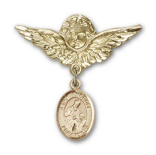 Icecarats Or Bijoux De Créateurs Rempli R. Broches Badge Ambrose Charme D'Ange 1 1/8 X 1 1/8