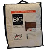 Best Mattress Pad for College The Big One Thick Cushioned Microfiber College Dorm Mattress Pad Twin Xl [Deep Pockets][back to School ]
