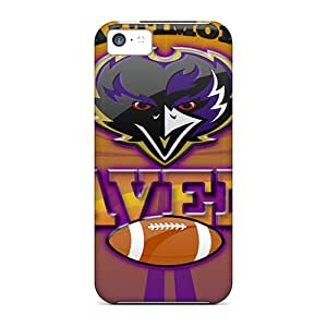 Perfect Cell-phone Hard Cover For Iphone 5c With Provide Private Custom Vivid Baltimore Ravens Image JamieBratt