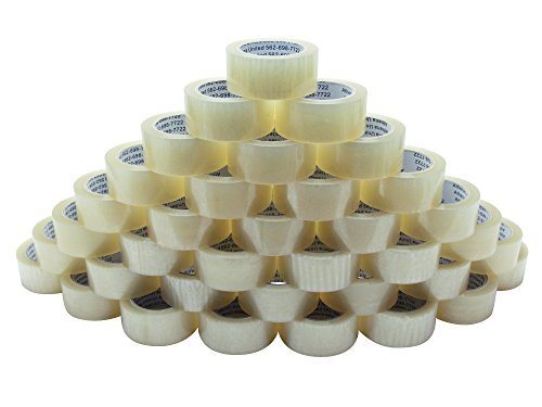 Athena United 1.8 Mil Clear Packing Moving Shipping Storage Box Sealing Wholesale Packaging Tape, 36 Rolls