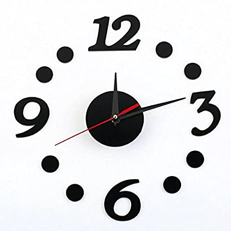Amazoncom Acrylic Wall Clock Digital Dot Wall Clock Simple Wall