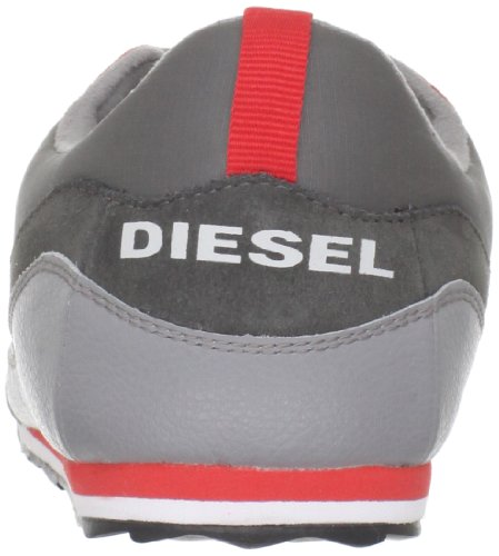 Diesel Mens Skytt Spets-up Mode Gymnastiksko Rödgods / Frost Grå-ps873h4418